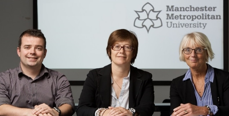 Glen Jones, Founder and MD of Cyber Coach, with Sarah Lister and Pauline Palmer, Senior Lecturers in Primary Education at Manchester Metropolitan University