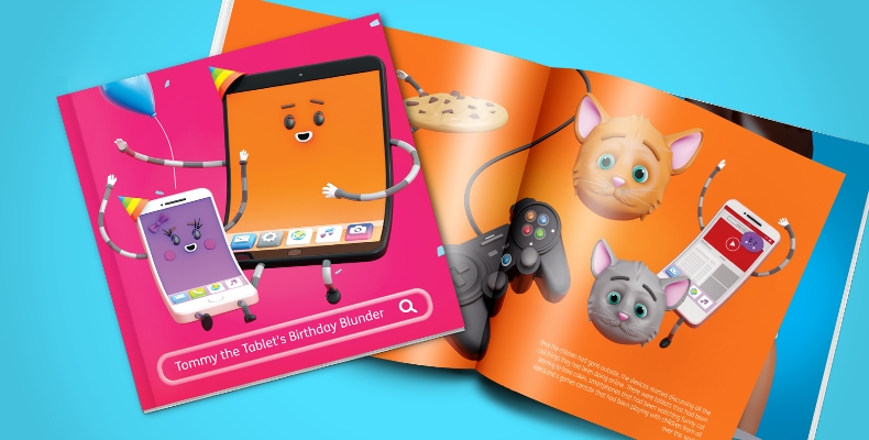 Tommy the Tablet is one of the characters in story books launched to teach children about online safety