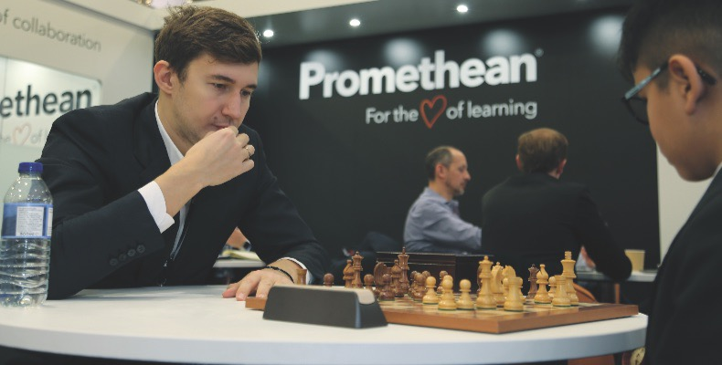 To coincide with the addition of chess to the curriculum, Promethean partnered with Russian Chess Grandmaster Sergey Karjakin, to run the Promethean Grandmaster Challenge in Russia