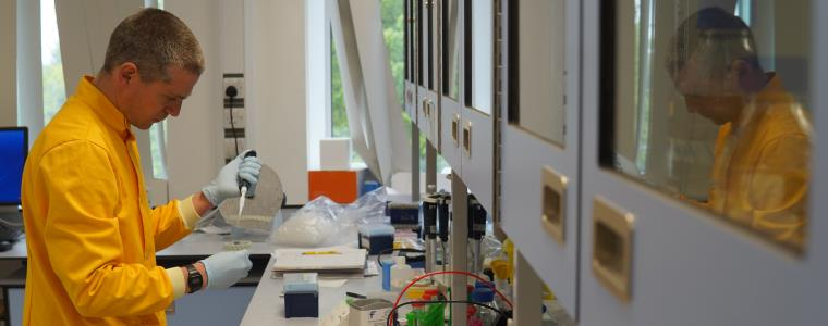 UWE's new lab zone has containment level two labs and facilities for molecular biology teaching
