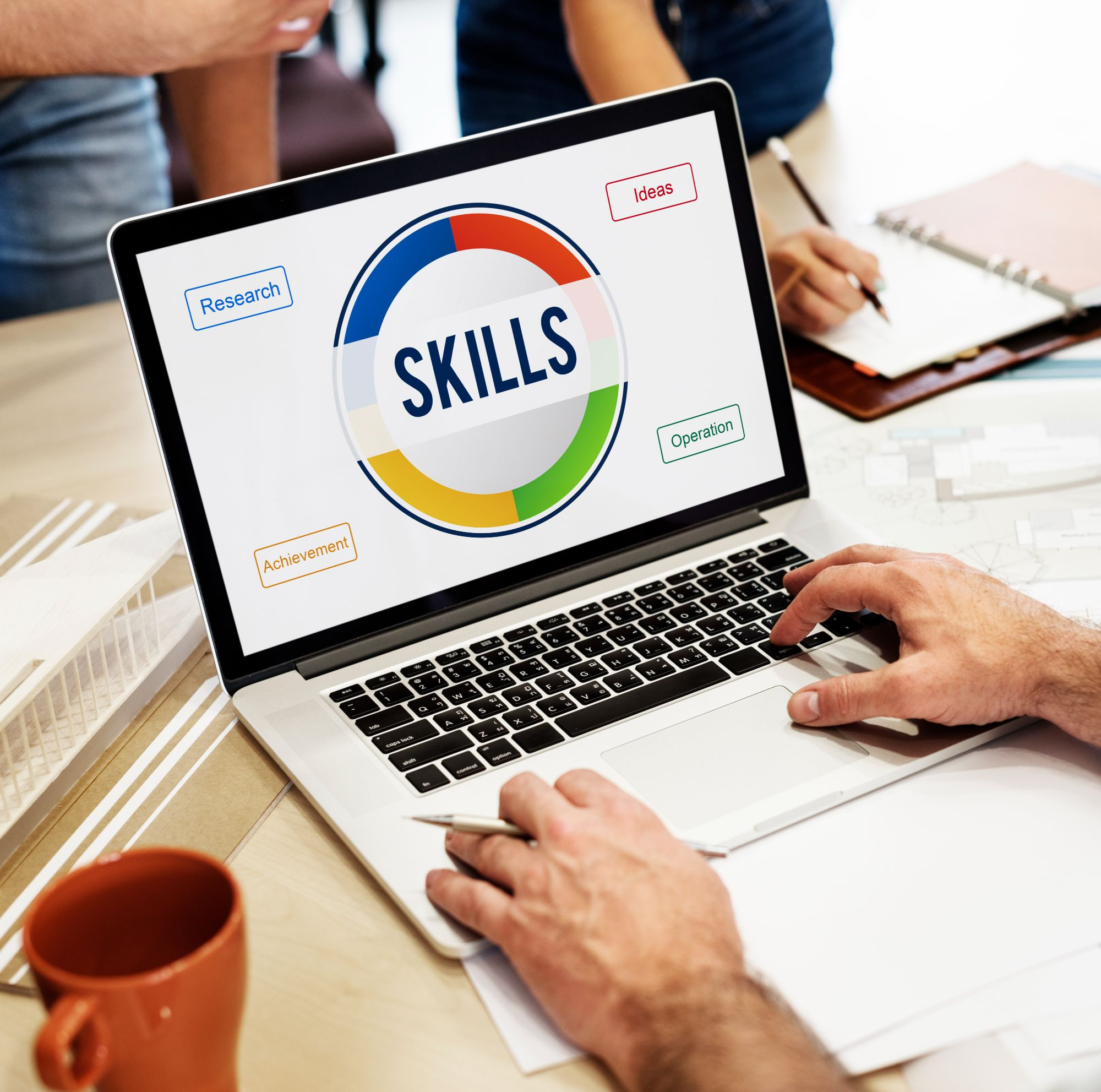 online-learning-skills-concept-laptop-screen